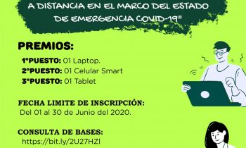 """PRIMER CONCURSO DOCENTE """"BUENAS PRÁCTICAS EN LA EDUCACIÓN A DISTANCIA EN EL MARCO DEL ESTADO DE EMERGENCIA COVID 19″"""