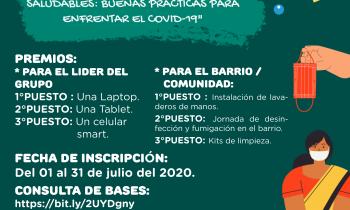 """CONCURSO DE COMUNIDADES Y BARRIOS SALUDABLES: """"BUENAS PRÁCTICAS PARA ENFRENTAR EL COVID-19"""""""
