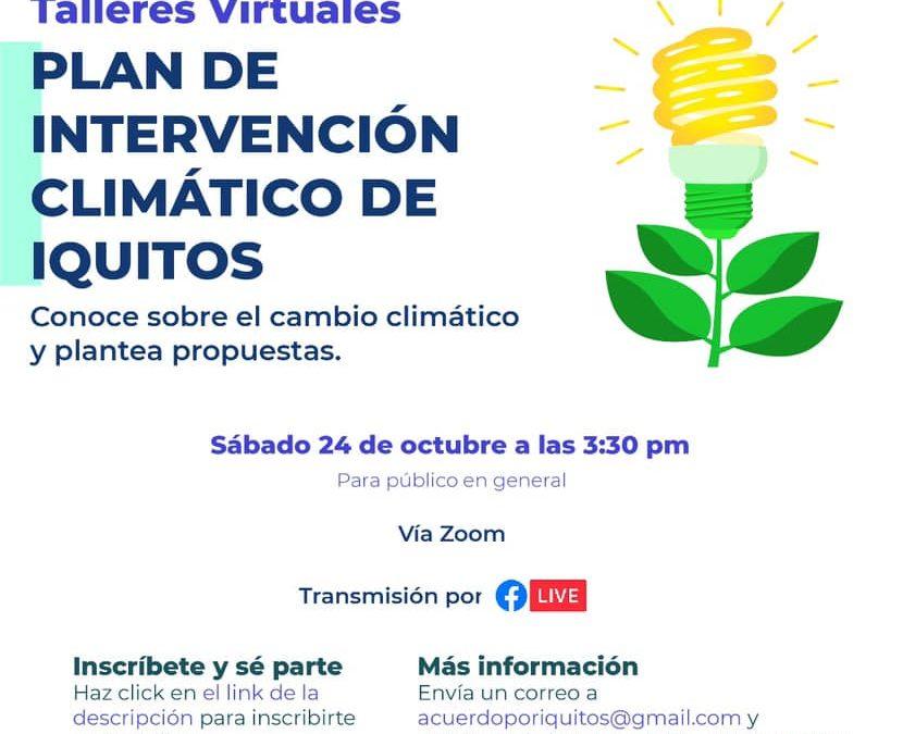 Talleres Virtuales: Plan de Intervención Climático de Iquitos.
