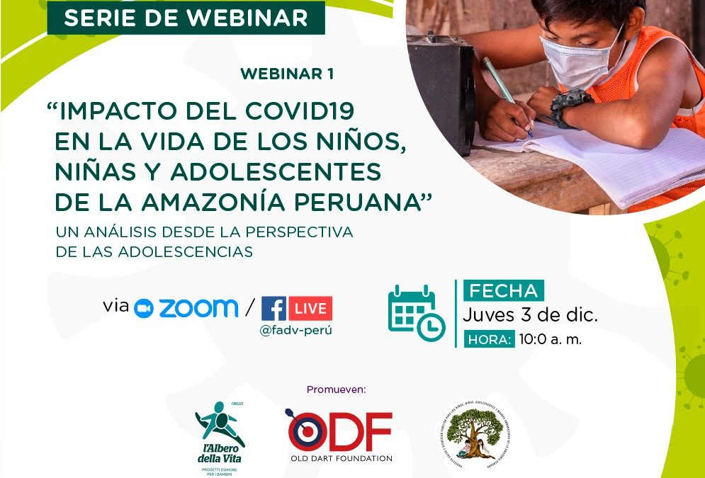 """""""Impactos del COVID-19 en la vida de los Niños, Niñas y Adolescentes de la Amazonia Peruana""""  un análisis desde la perspectiva de las adolescencias"""